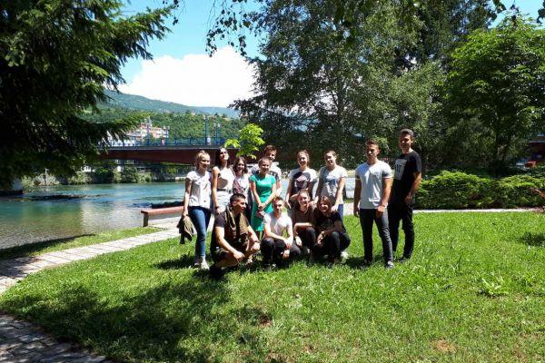 Drina zbližila mlade: Mladi iz Foče posjetili Goražde
